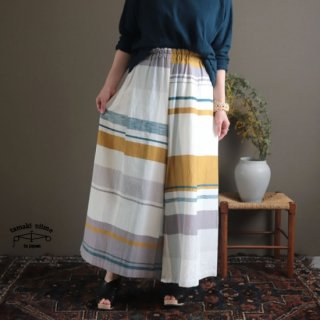 tamaki niime  玉木新雌 only one wide pants LONG cotton 100% WPL07 / オンリーワン ワイドパンツ ロング コットン100% 【送料無料】