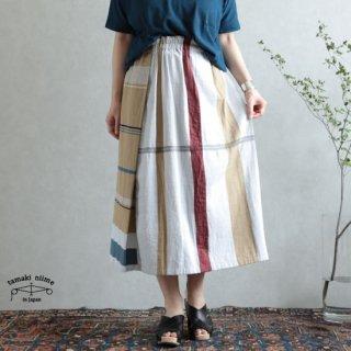 tamaki niime  玉木新雌 only one powan skirt SHORT cotton100% 04 / オンリーワン ポワンスカート ショート コットン100% 【送料無料】