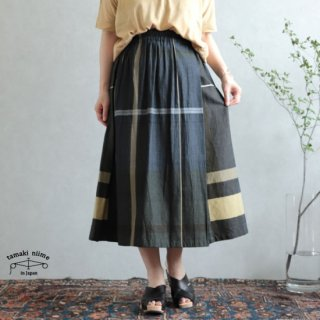 tamaki niime  玉木新雌 only one powan skirt SHORT cotton100% 05 / オンリーワン ポワンスカート ショート コットン100% 【送料無料】