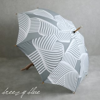 breezy blue ブリージーブルー バイカラー捺染パラソル 晴雨兼用 日傘  UV加工 長傘 シラタキ 【送料無料】