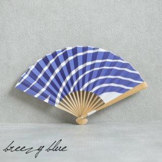 breezy blue ブリージーブルー バイカラー扇子 ウズマキ