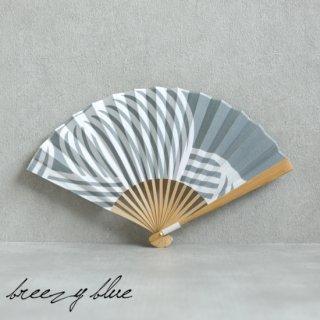 breezy blue ブリージーブルー バイカラー扇子 シラタキ