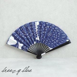 breezy blue ブリージーブルー 注染 扇子 アザミブルー