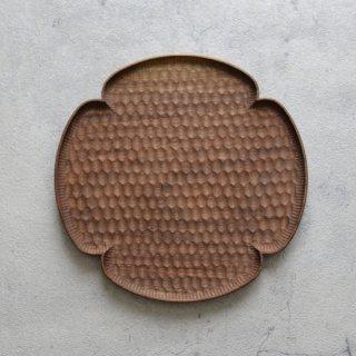 高塚和則 木工房玄 ウォールナット 花形パン皿 はちのす 大 φ240mm