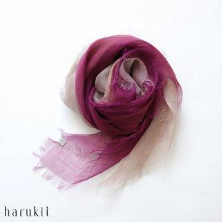 harukii ハルキ ぼかし染ラミー薄羽(うすば)ストール S 華紫(はなむらさき)【送料無料】