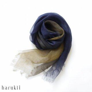 harukii ハルキ ぼかし染ラミー薄羽(うすば)ストール S 深縹(ふかきはなだ)【送料無料】