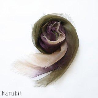 harukii ハルキ ぼかし染ラミー薄羽(うすば)ストール S 松風(まつかぜ)【送料無料】