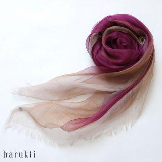 harukii ハルキ ぼかし染ラミー薄羽(うすば)ストール L 華紫(はなむらさき)【送料無料】
