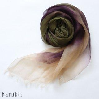 harukii ハルキ ぼかし染ラミー薄羽(うすば)ストール L 松風(まつかぜ)【送料無料】