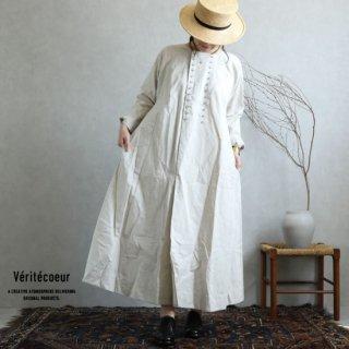 Veritecoeur(ヴェリテクール)【2019ss新作】 コットンリネンラップボタンワンピース KINARI / VC-1871【送料無料】