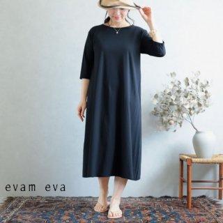 evam eva(エヴァム エヴァ)【2019ss新作】 カットソー ワンピース ブラック / cut&sew one-piece E191C147