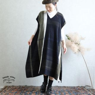 tamaki niime 玉木新雌 only one fuwa-T long V wool70% cotton30% FTLW05 / オンリーワン フワT ロング Vネック ウール