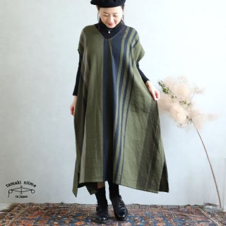 tamaki niime 玉木新雌 only one fuwa-T long V wool70% cotton30% FTLW06 / オンリーワン フワT ロング Vネック ウール