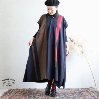 tamaki niime 玉木新雌 only one fuwa-T long V wool70% cotton30% FTLW10 / オンリーワン フワT ロング Vネック ウール