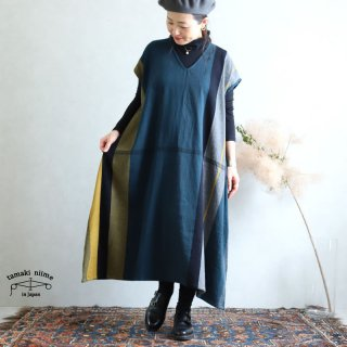 tamaki niime 玉木新雌 only one fuwa-T long V wool70% cotton30% FTLW12 / オンリーワン フワT ロング Vネック ウール