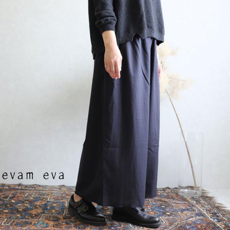 evam eva(エヴァム エヴァ)【2019aw新作】 コットンシルクギャザーパンツ スミ