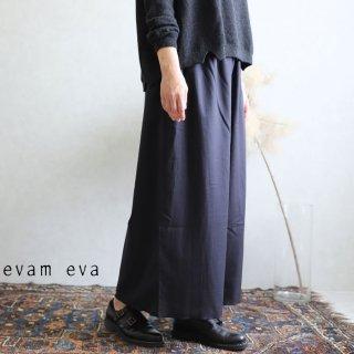 evam eva(エヴァム エヴァ)【2019aw新作】 コットンシルクギャザーパンツ スミ / cotton silk gather pants sumi V193T906