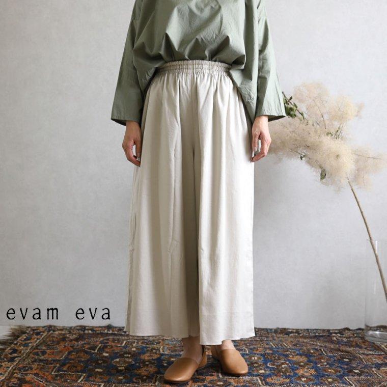 evam eva(エヴァム エヴァ)【2019aw新作】 コットンシルクギャザーパンツ グレージュ