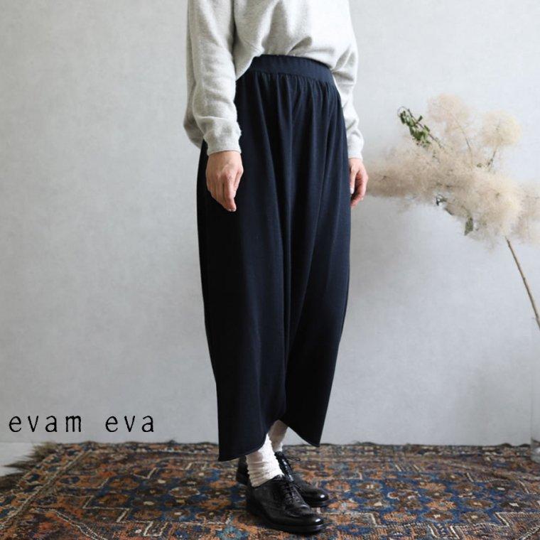 evam eva(エヴァム エヴァ)【2019aw新作】 ヤク コットン サルエルパンツ スミ