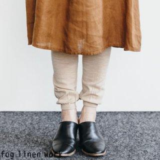 【1点のみゆうパケット可】fog linen work(フォグリネンワーク)【2019年秋冬新作】ウールレギンス ベージュ / WOOL LEGGINGS LWK314