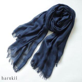 harukii ハルキ うかしガーゼストール L ネイビーブルー Navy Blue 【送料無料】