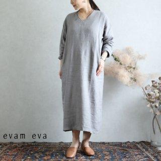 evam eva(エヴァム エヴァ) vie【2019aw新作】 ライジングリネン ワンピース グレー / raising linen one-piece  gray V193T917
