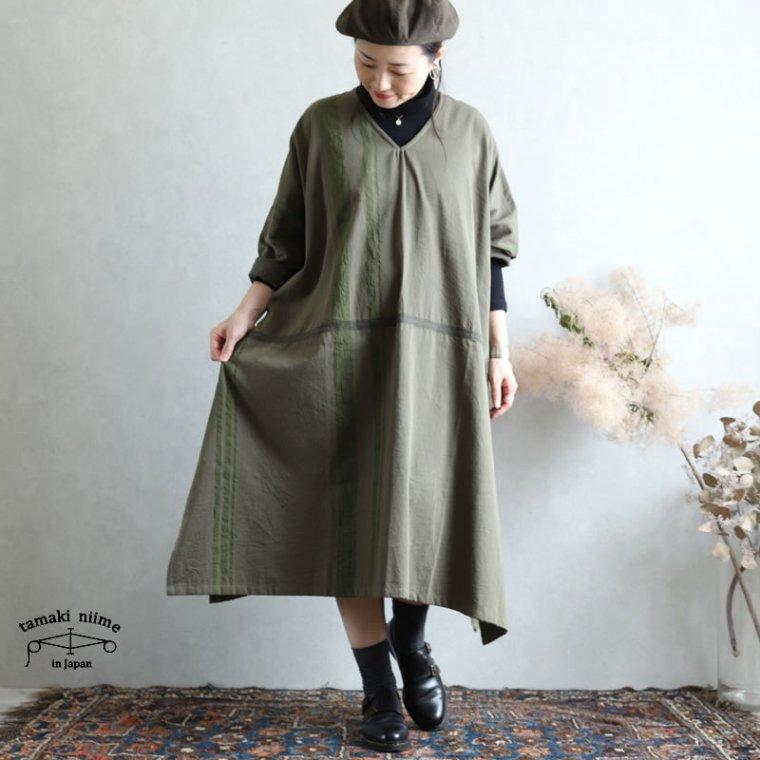 tamaki niime(タマキ ニイメ) 玉木新雌 きぶんシリーズ 9月 fuwa-T ALL (長袖)khaki cotton 100% 厚地ベーシック フワT オール コットン100%
