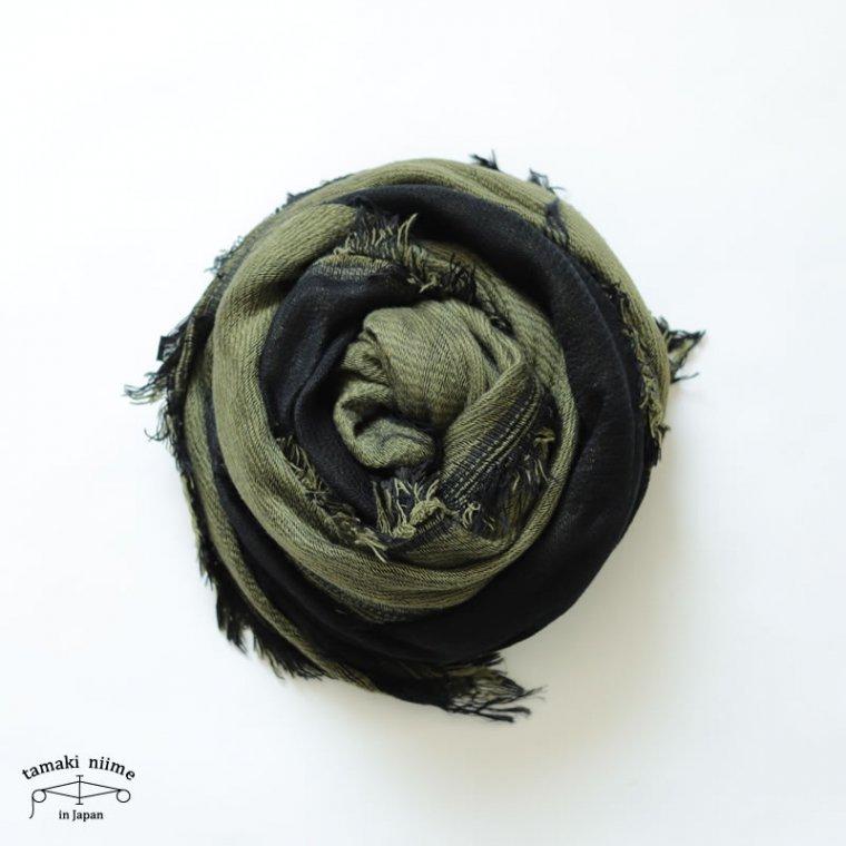 tamaki niime(タマキ ニイメ) 玉木新雌 きぶんシリーズ 9月 リバーシブル mocotton shawl big cotton 100% / 無撚糸コットンショール ビッグ