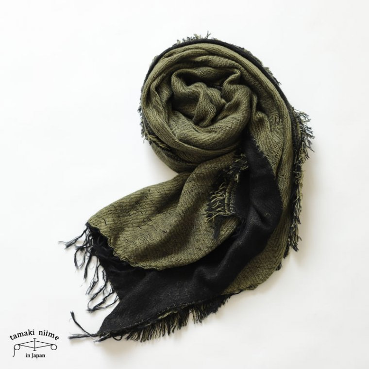 tamaki niime(タマキ ニイメ) 玉木新雌 きぶんシリーズ 9月 リバーシブル mocotton shawl middle