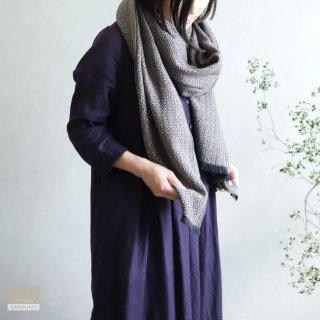 LAPUAN KANKURIT ラプアン・カンクリ【2020AW新作】KOLI merino wool scarf  beige-black コリスカーフ