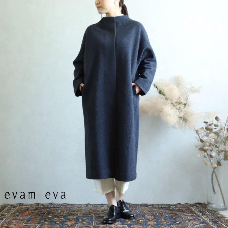 evam eva(エヴァム エヴァ)【2019aw新作】 プレスウールロングコート ノースシー