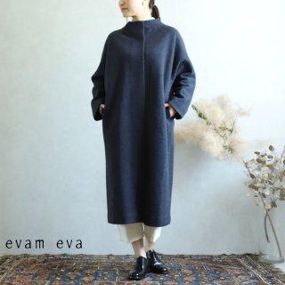 evam eva(エヴァム エヴァ)【2019aw新作】 プレスウールロングコート ノースシー / press wool long coat north sea E193K044