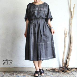 tamaki niime(タマキ ニイメ) 玉木新雌  basic wear wide pants short gray cotton 100% / ワイドパンツ ショート グレー コットン100%
