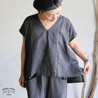 tamaki niime(タマキ ニイメ) 玉木新雌  basic wear fuwa t SHORT gray cotton 100% / フワT ショート グレー コットン100%
