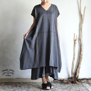 tamaki niime(タマキ ニイメ) 玉木新雌  basic wear fuwa t LONG Vネック gray cotton 100% / フワT ロング グレー コットン100%