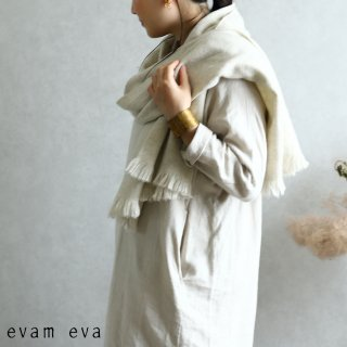 evam eva(エヴァム エヴァ)【2019aw新作】カシミヤ ストール  ファントムグレー / cashmere stole phantom gray E193G089
