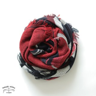 tamaki niime 玉木新雌 タマキニイメ mocotton shawl MIDDLE 06 cotton100% / モコットンショール ミドル コットン100%