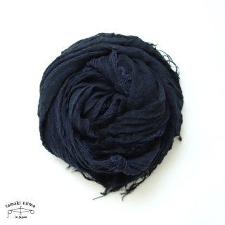 tamaki niime(タマキ ニイメ) 玉木新雌  basic shawl big navy / ベーシックショール ビッグ ネイビー コットン100%