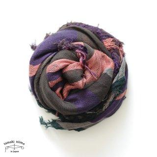 tamaki niime 玉木新雌 タマキニイメ mocotton shawl MIDDLE 09 cotton100% / モコットンショール ミドル コットン100%