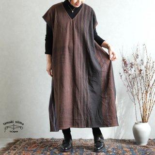 tamaki niime 玉木新雌 only one fuwa-T long V wool70% cotton30% FTLW16 / オンリーワン フワT ロング Vネック ウール