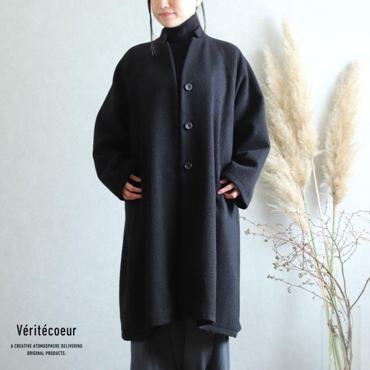 Veritecoeur(ヴェリテクール) ヴィンテージブランケットコート BLACK ブラック