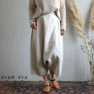 evam eva(エヴァム エヴァ)【2019aw新作】ライジングリネン サルエルパンツ アンティークホワイト / sarrouel pants antique white E193T102
