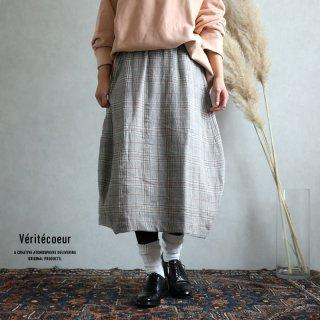 Veritecoeur(ヴェリテクール)【2019aw新作】 グレンチェックスカート / Glen Check Skirt VC-2013