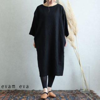 evam eva(エヴァム エヴァ) 【2019aw新作】 コットン ウール ワンピース ブラック / cotton wool one-piece E193T119