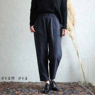evam eva(エヴァム エヴァ) vie【2019aw新作】フランネルコットンイージーパンツ  スミ / flannel cotton easy pants sumi V193T929