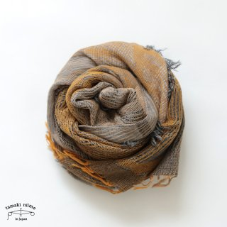 tamaki niime 玉木新雌 roots shawl wool middle RSM_W98/ ルーツショール ウール70% コットン30% ミドルサイズ