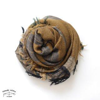 tamaki niime 玉木新雌 roots shawl wool middle RSM_W96/ ルーツショール ウール70% コットン30% ミドルサイズ
