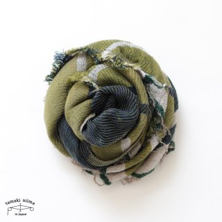 tamaki niime 玉木新雌 roots shawl wool middle RSM_W95/ ルーツショール ウール70% コットン30% ミドルサイズ