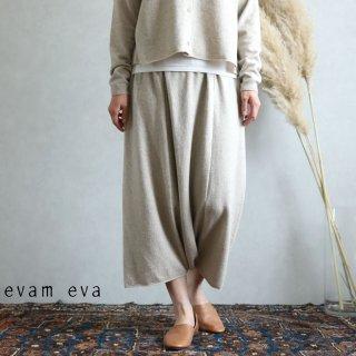 evam eva(エヴァム エヴァ)【2019aw新作】ウールサルエルパンツ ベージュ / wool sarrouel pants beige  E193K105