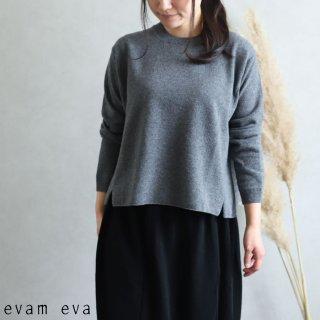 evam eva(エヴァム エヴァ)【2019aw新作】ウールプルオーバー グレー / wool pullover gray  E193K103